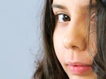 Stående av den härliga flickan Arkivbild