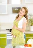 Stående av den härliga gravida kvinnan Royaltyfria Bilder