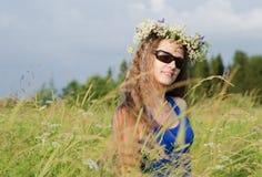 Stående av den härliga kvinnan Fotografering för Bildbyråer