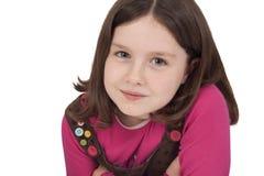 Stående av den härliga liten flicka Fotografering för Bildbyråer