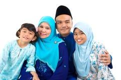 Muslimfamilj arkivfoto