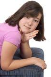 Stående av den härliga tonårs- flickan Fotografering för Bildbyråer