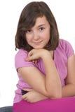 Stående av den härliga tonårs- flickan Arkivbild