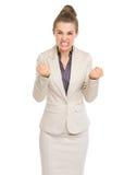 Stående av den ilskna affärskvinnan royaltyfri foto