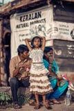 Stående av den indiska lantliga flickan royaltyfri fotografi