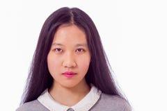 Stående av den kinesiska tonåringen Royaltyfria Foton
