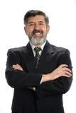 Stående av den latinamerikanska affärsmannen Arkivfoto