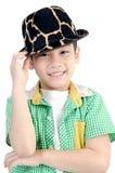 Stående av den lyckliga asiatiska gulliga pojken Royaltyfri Foto