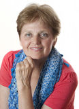 Stående av den lyckliga höga kvinnan Fotografering för Bildbyråer
