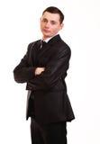 Stående av den lyckliga le unga affärsmannen Royaltyfri Fotografi