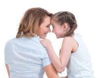 Stående av den lyckliga modern och barndottern Royaltyfria Foton