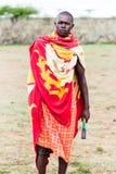 Stående av den Massai mannen Royaltyfri Foto