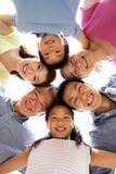 Stående av den Multi-Generation kinesiska familjen arkivfoto
