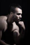 Stående av den muskulösa manen Arkivbilder