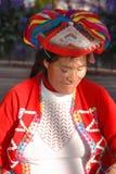 Stående av den peruanska indiska kvinnan Royaltyfri Bild