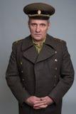 Stående av den ryska officeren Royaltyfri Bild