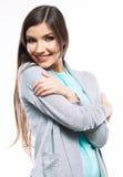 Stående av den tillfälliga ståenden för yong kvinna, leende, härlig modell Fotografering för Bildbyråer
