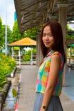 Stående av den tonåriga asiatiska kvinnan. Royaltyfri Bild
