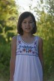 Stående av den tonårs- flickan arkivfoto