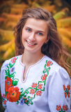 Stående av den ukrainska flickan Arkivbild