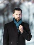 Stående av den unga Beared mannen Royaltyfri Fotografi