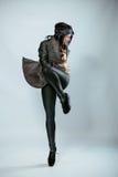 Stående av den unga dansflickan Fotografering för Bildbyråer