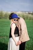 Stående av den unga härliga blonda kvinnan Fotografering för Bildbyråer