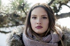 Stående av den unga kvinnan Fotografering för Bildbyråer
