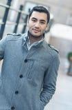 Stående av den unga mannen i den november morgonen Royaltyfri Fotografi