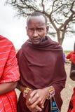 Stående av den unga masaien Arkivbild