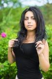 Stående av den unga sexiga kvinnan Fotografering för Bildbyråer