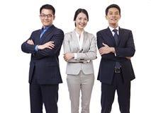 Stående av det asiatiska affärslaget royaltyfri foto
