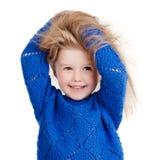 Stående av det lyckliga barnet som isoleras på vit royaltyfria foton