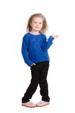 Stående av det lyckliga barnet som isoleras på vit royaltyfri fotografi