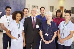 Stående av det medicinska laget för sjukhus royaltyfri bild
