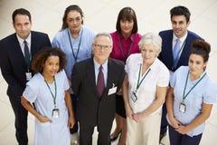 Stående av det medicinska laget för sjukhus royaltyfri fotografi