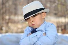 Stående av det roliga barnet Fotografering för Bildbyråer