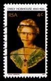 stående av Emily Hobhouse (1860-1926), serie, circa 1976 Royaltyfri Bild
