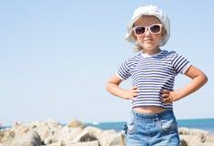 Stående av en årig flicka fyra Arkivfoto