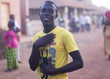 Stående av en afrikansk ung man Royaltyfri Foto