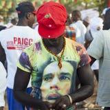 Stående av en afrikansk ung man Royaltyfri Bild