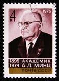 Stående av en akademiker A L Mintkarameller 1895-1974, fysiker, circa 1975 royaltyfria bilder