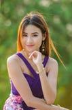 Stående av en asiatisk kvinna Royaltyfri Foto