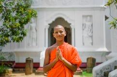 Stående av en buddistisk munk Arkivbilder