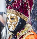 Stående av en förklädd person - Venedig karneval 2014 Arkivfoto