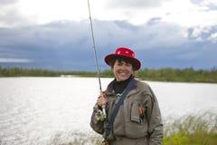 Stående av en fiskare 2 Arkivfoto