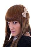 Stående av en flickaframsida Arkivfoton