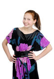 Stående av en flickatonåring. arkivbild