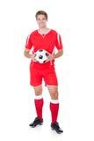 Stående av en fotbollspelare Arkivfoton