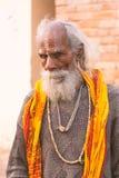 Stående av en gammal indier Sadhu Royaltyfri Fotografi